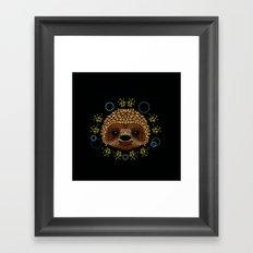 Sloth Face Framed Art Print