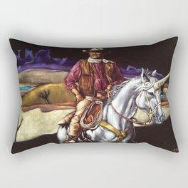 Black Velvet John Wayne Riding a Unicorn Rectangular Pillow