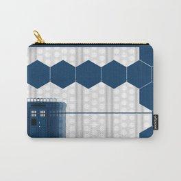 Tardis Art Blue Box Shadow Carry-All Pouch