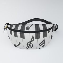 Black and White Piano Keyboard Fanny Pack