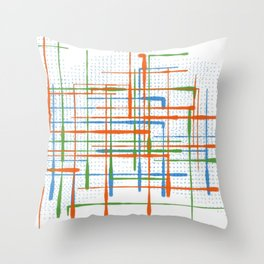 Abstract / Geometry - Colorful Terminal Throw Pillow