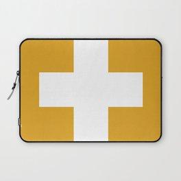 Swiss Cross Mustard Laptop Sleeve