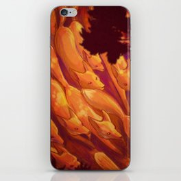 FLIGHT OF THE FOXES iPhone Skin