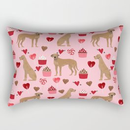 Great Dane valentines day cupcakes love hearts dog gifts must have pure breed great danes dog patter Rectangular Pillow