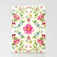 folk Stationery Cards featuring folk floral by clemm