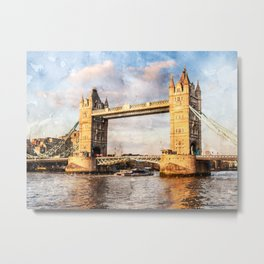 london-tower-bridge-england-bridge Metal Print