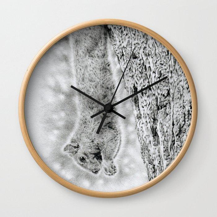 Dangling Squirrel Wall Clock