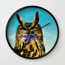 Owlgelina Jolie Wall Clock