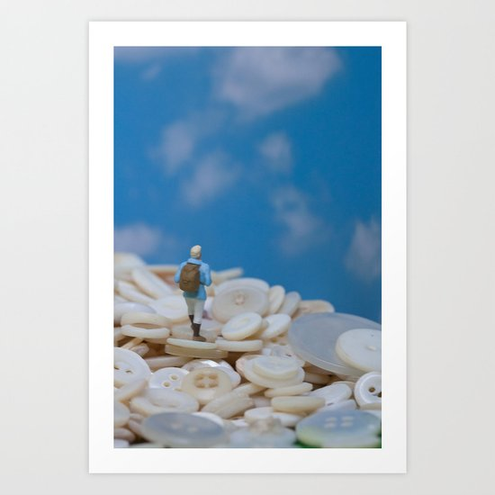 The Great Button Hike Art Print