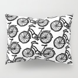 roule ma poule - wanna ride my bicycle BLACK Pillow Sham