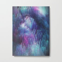 Glitch Galaxy Metal Print