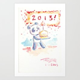 Happy New Year 2013 Art Print