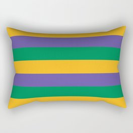 Mardi Gras Rugby Stripe Rectangular Pillow