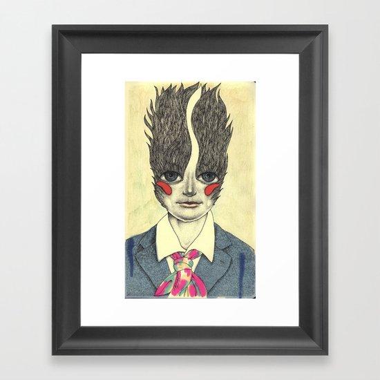 Random character Framed Art Print