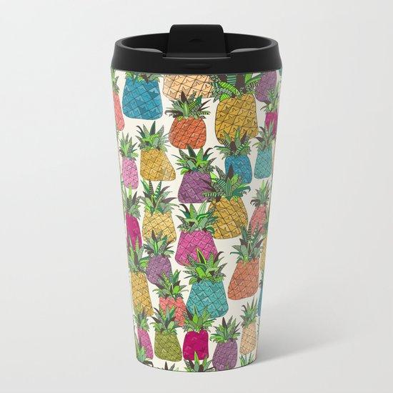 West Coast pineapples Metal Travel Mug