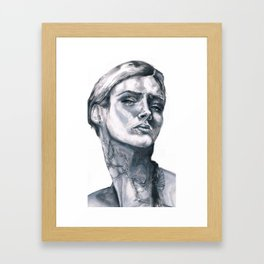 Tatoo peace Framed Art Print