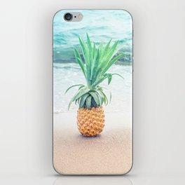 Happy Pinapple Portrait iPhone Skin