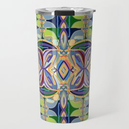 Butterfly mosaic - brightly colored pattern Travel Mug