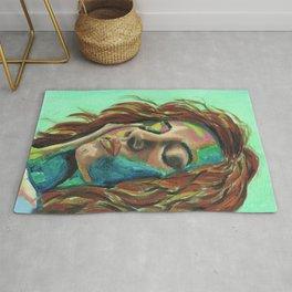 Colourful Pop Art Female Portrait Rug