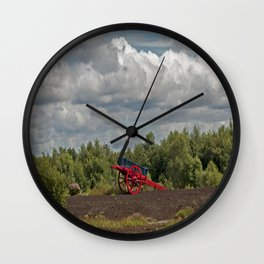 An Old Painted Cart Wall Clock