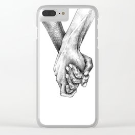 Holding hands Clear iPhone Case