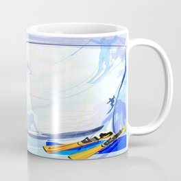 Downhill Skiing Coffee Mug