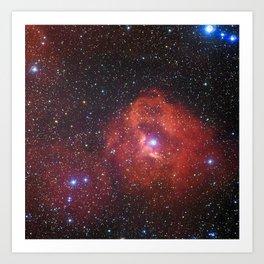 Star Formation Region Gum 41 Art Print
