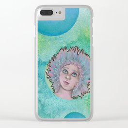 bubble troll girl Clear iPhone Case