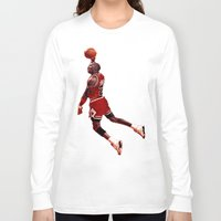 lakers Long Sleeve T-shirts featuring MJ  by VeilSide07