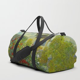 Claude Monet Impressionist Landscape Oil Painting A Corner of the Garden with Dahliass Duffle Bag