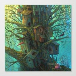Pig house Canvas Print