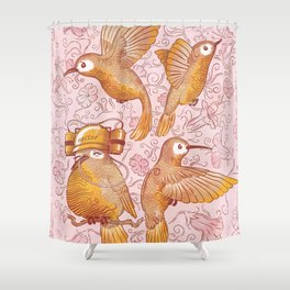 Hector The Lazy Hummingbird Shower Curtain