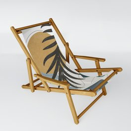 Abstract Tropical Art II Sling Chair
