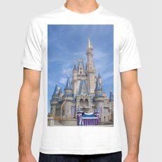 Castle MEDIUM White Mens Fitted Tee