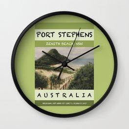 Travel Poster Zenith Beach Art Print Wall Clock