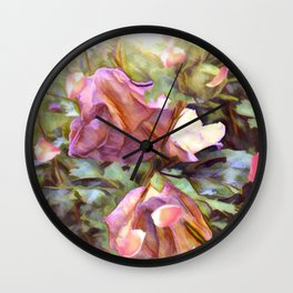 Petals Falling From The Flowers Wall Clock
