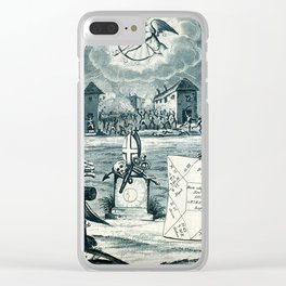Raphael's Prophetic Almanack: a tombstone, an earthquake, and riotous assembly (1826) Clear iPhone Case