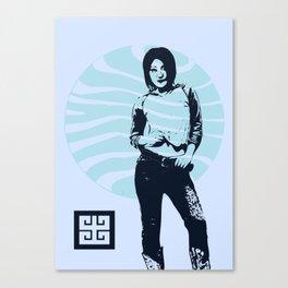 jean ad Canvas Print