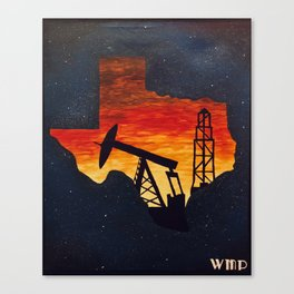 Oil in Texas Canvas Print