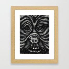 Pig Human Framed Art Print