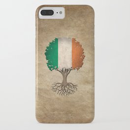 Vintage Tree of Life with Flag of Ireland iPhone Case