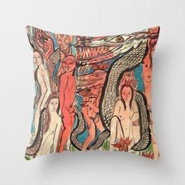 Ourobouric Echoes Throw Pillow