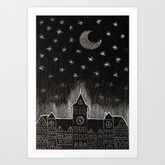 black night Art Print