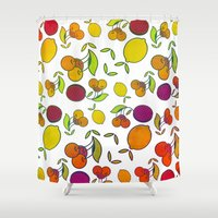 fruits Shower Curtains featuring Fruits by VessDSign