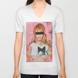Here Kitty Kitty Unisex V-Neck