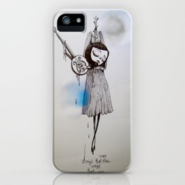 songs that were blue, songs that were grey iPhone Case