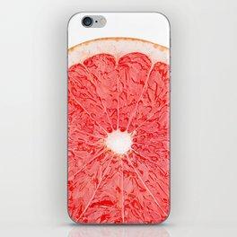 Slice of grapefruit iPhone Skin