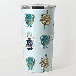 Ancient Symbols Pattern 1 Travel Mug