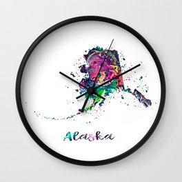 Alaska Map Wall Clock