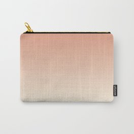 Pratt & Lambert's Color of the Year 2019 Earthen Trail Pink 4-26 and Dover White 33-6 Ombre Gradient Carry-All Pouch